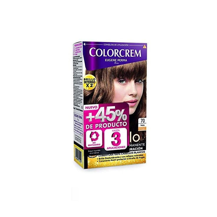 COLORCREM COLOR & BRILLO TINTE CAPILAR +45% DE PRODUCTO 70 RUBIO