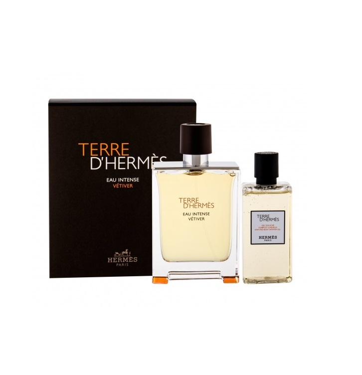 HERMES TERRE D\'HERMES EAU INTENSE VETIVER EDT 100 ML + S/GEL 80 ML SET REGALO