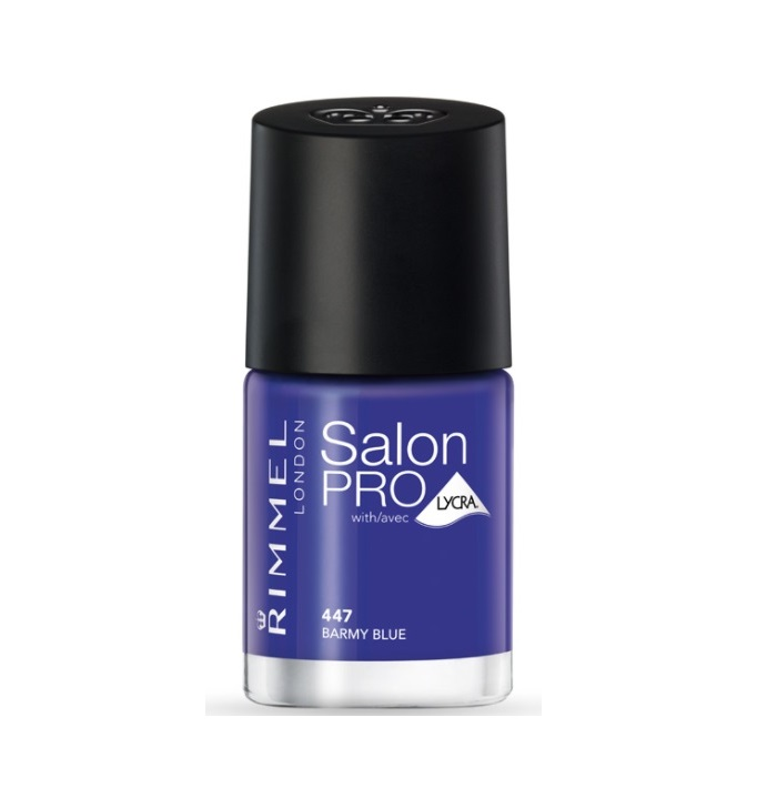 RIMMEL LONDON NAIL POLISH SALON PRO BARMY BLUE 447 12ML