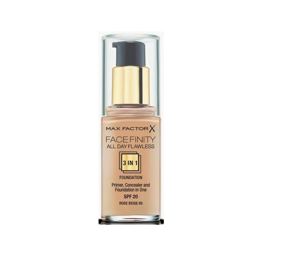 MAX FACTOR FACEFINITY ALL DAY FLAWLESS 3 IN 1 FOUNDATION 065 ROSE BEIGE