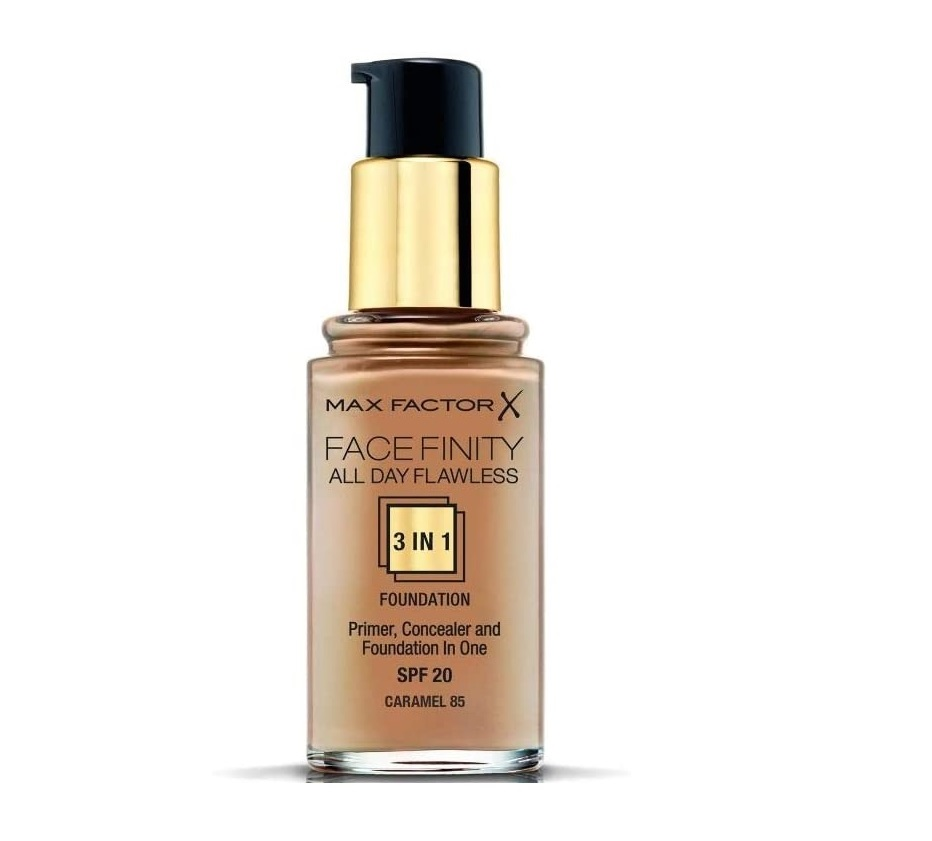 MAX FACTOR FACEFINITY ALL DAY FLAWLESS 3 IN 1 FOUNDATION 085 CARAMEL