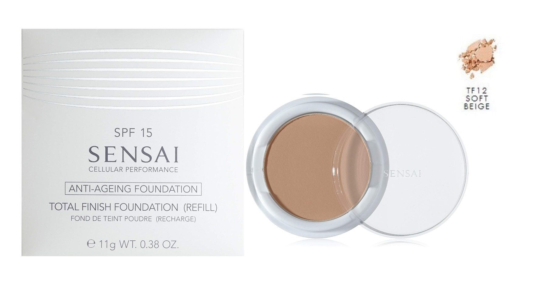 SENSAI TOTAL FINISH FOUNDATION COLOR TF12