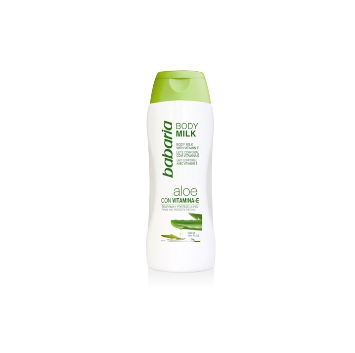 BABARIA BODY MILK ALOE VERA + VITAMINA E 500ML