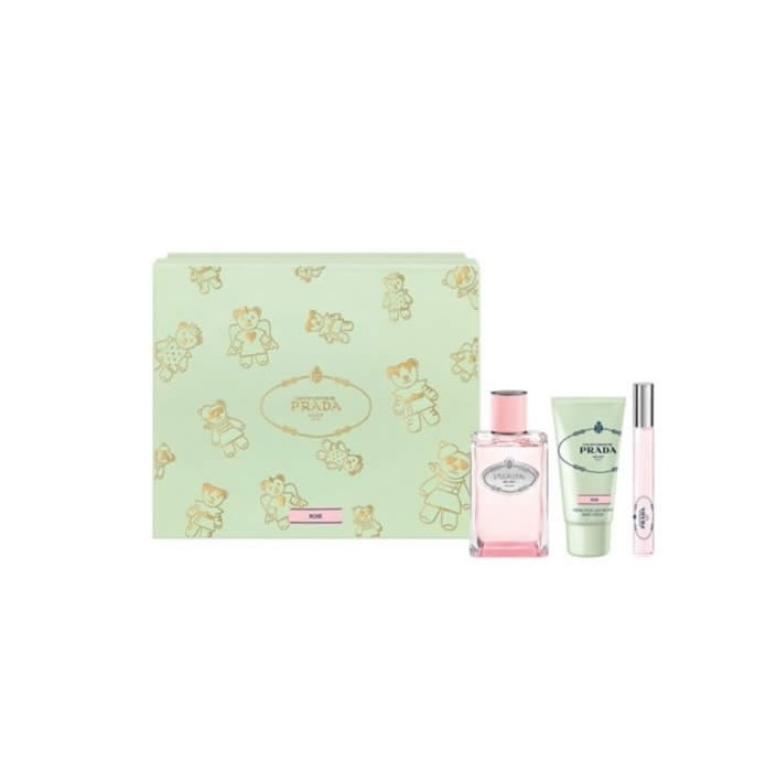 PRADA INFUSION DE ROSE EDP 100 ML VAPO + CREMA DE MANOS 50ML + ROLL-ON 10ML SET