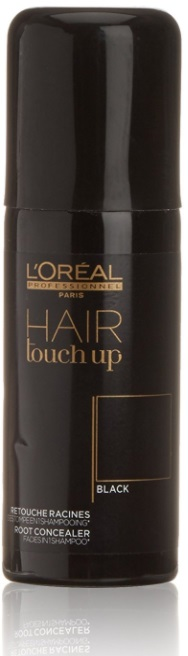 L\'OREAL HAIR TOUCH UP BLACK SPRAY CORRECTOR DE RAICES NEGRO 75 ML