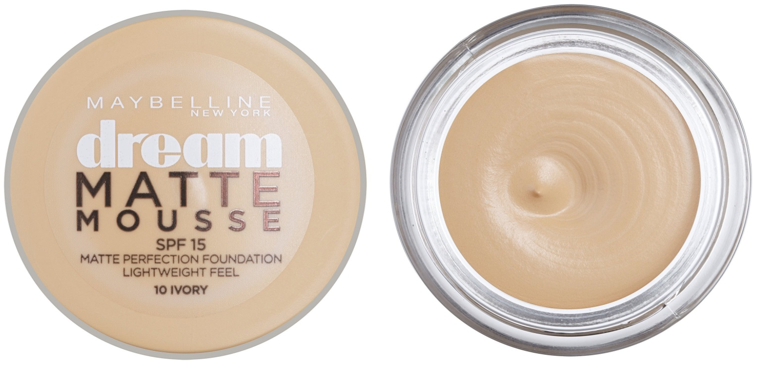MAYBELLINE DREAM MAQUILLAJE MOUSSE ACABADO MATE 10 IVORY SPF15 18 ML