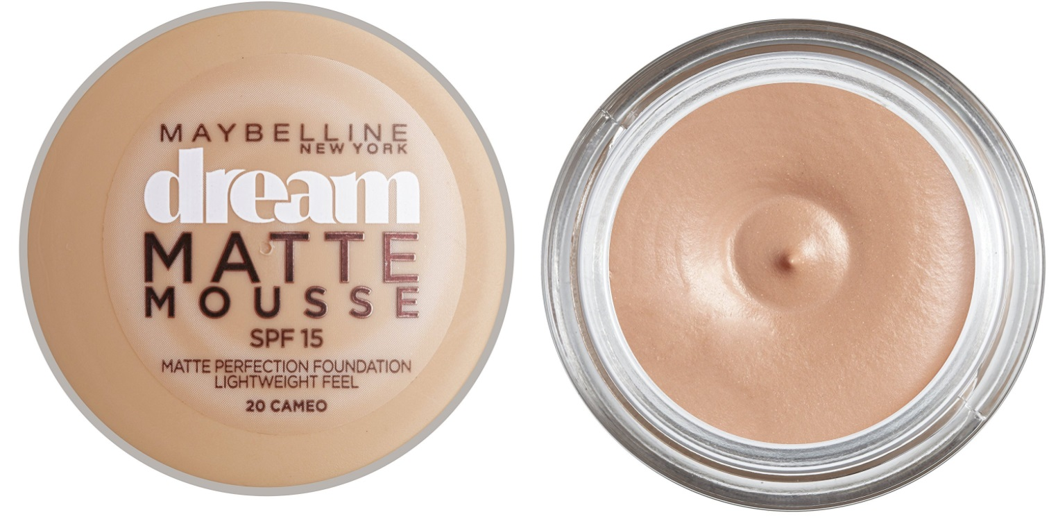 MAYBELLINE DREAM MAQUILLAJE MOUSSE ACABADO MATE 20 CAMEO SPF15 18 ML