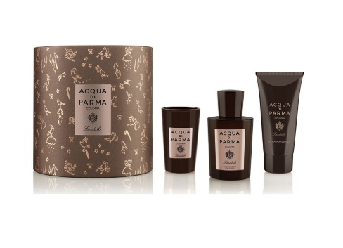 ACQUA DI PARMA COLONIA SANDALO EDC 100 ML + S/GEL 75 ML +VELA 65GR. SET REGALO
