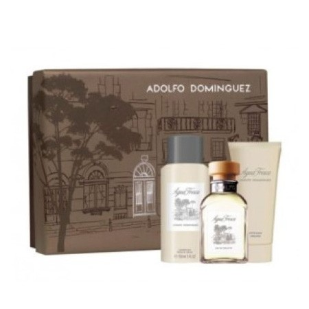 ADOLFO DOMINGUEZ AGUA FRESCA EDT 120 ML VP + DEO 150 ML + A/S BALM 100 ML SET REGALO