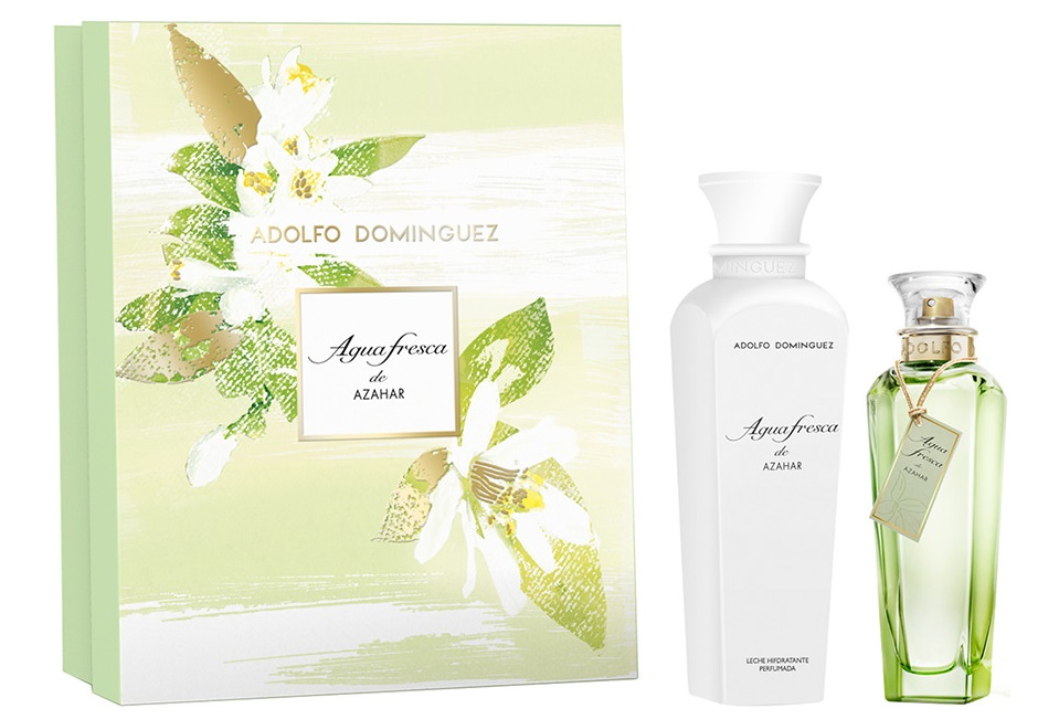 ADOLFO DOMINGUEZ AGUA FRESCA DE AZAHAR EDT 120ML +LOCIÓN CORPORAL 300ML SET REGALO