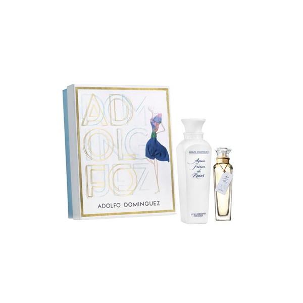 ADOLFO DOMINGUEZ AGUA FRESCA DE ROSAS EDT 120 ML + B/LOC 500 ML SET REGALO