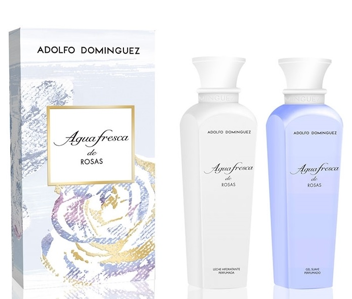 ADOLFO DOMINGUEZ AGUA FRESCA DE ROSAS GEL 500 ML + B/L 500 ML SET REGALO