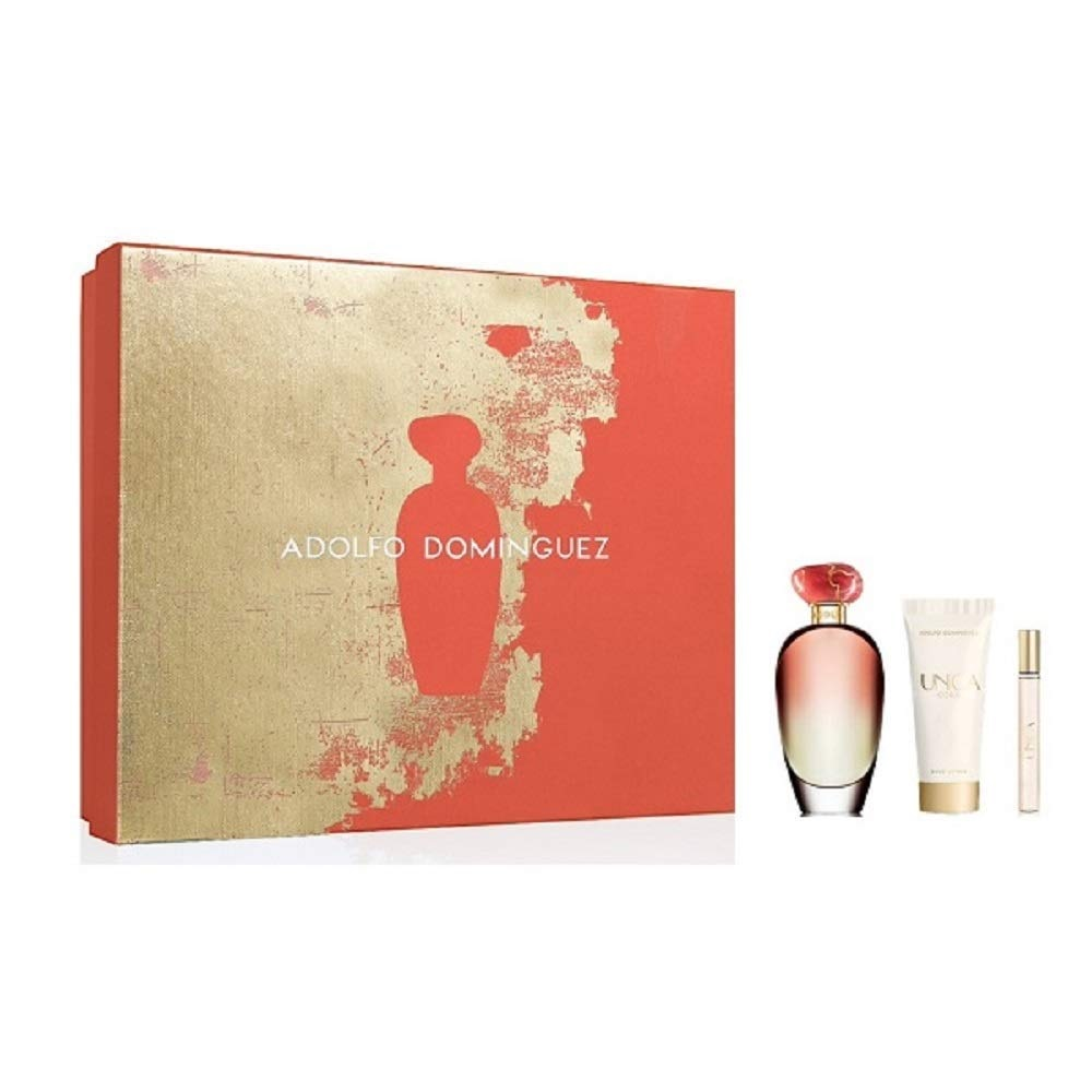 ADOLFO DOMINGUEZ UNICA CORAL EDT 100 ML + 10 ML + B/L 75 ML SET REGALO