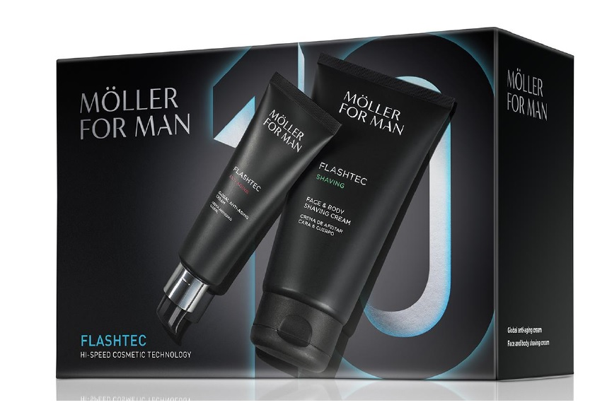 ANNE MOLLER FOR MAN FLASHTEC CREMA ANTIEDAD 50 ML + CR. AFEITADO 125 ML SET