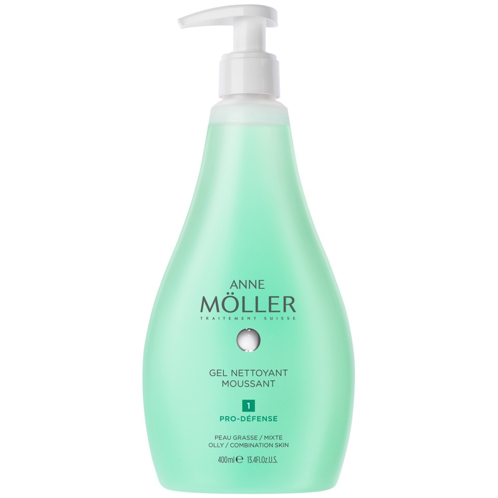 ANNE MOLLER GEL MOUSSANT LIMPIADOR 400 ML P/MIXTA-GRASA
