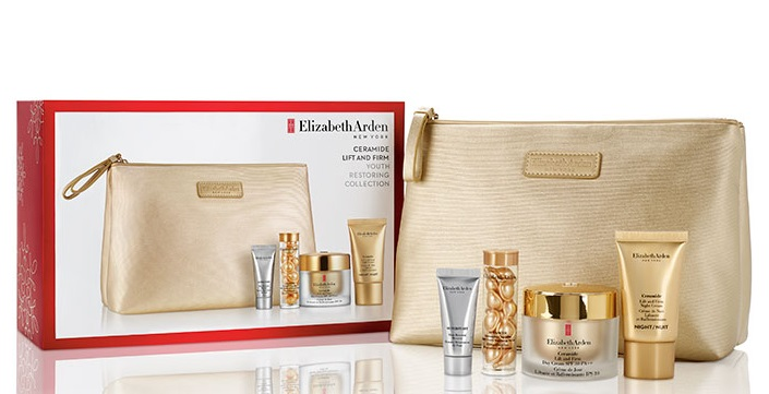 ELIZABETH ARDEN CERAMIDE ADVANCED CAPSULES 14 CAPS.+ DAY CREAM 50 ML + NIGHT CREAM 15 ML + BOOSTER 5 ML + NECESER SET