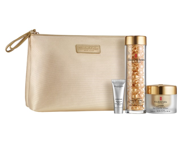 ELIZABETH ARDEN CERAMIDE ADVANCED CAPSULES 90CAPS.+ DAY CREAM 50 ML + BOOSTER 5 ML + NECESER SET