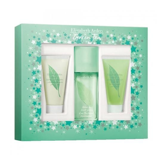 ELIZABETH ARDEN GREEN TEA EDP 100ML +B/L 100 ML+ S/G 100 ML SET REGALO