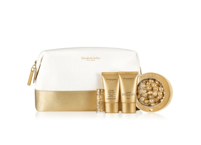 ELIZABETH ARDEN CERAMIDE ADVANCED CAPSULES 60 CAPS. +EYE 7 CAPS+ CR. 15 ML NIGHT + CR 15 ML DAY+ NECESER SET