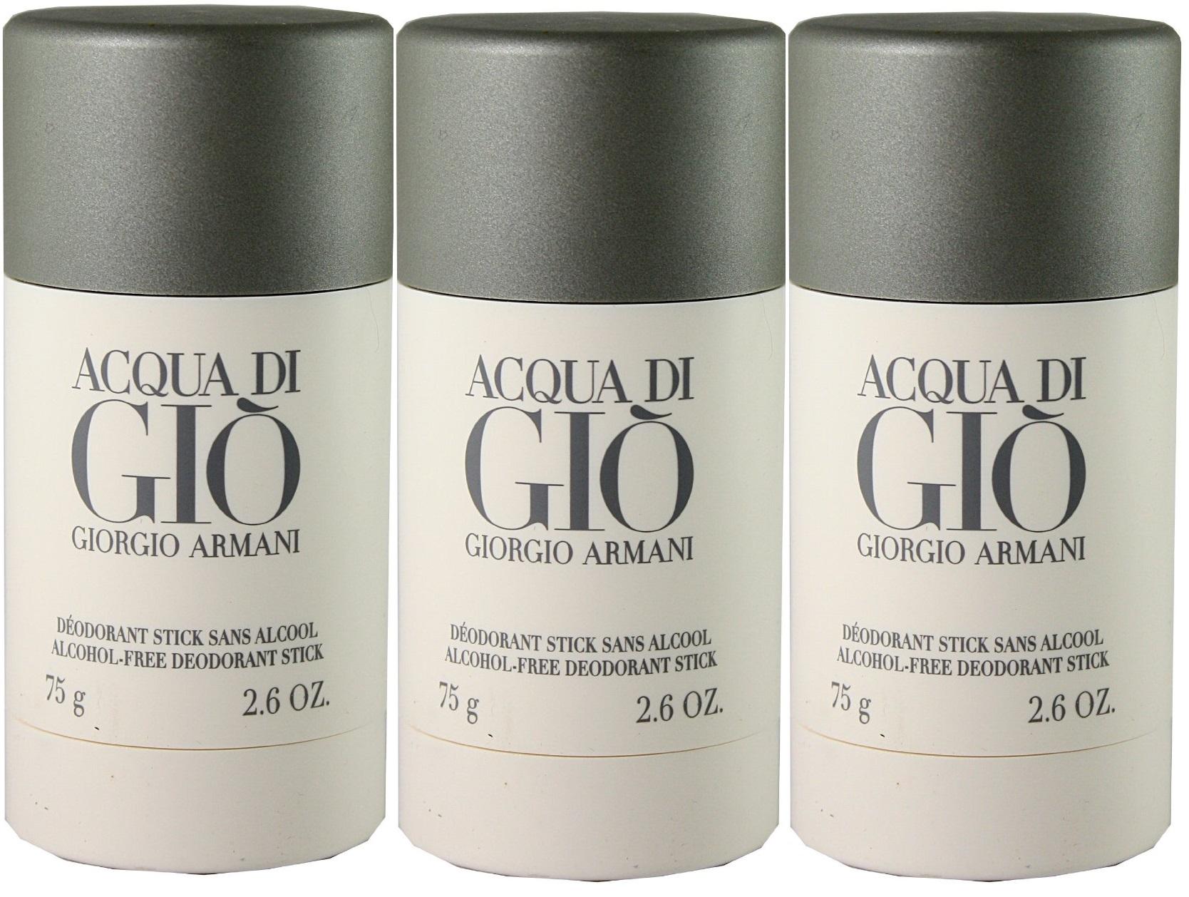 GIORGIO ARMANI ACQUA DI GIO DEO STICK 75 GR X 3 UDS