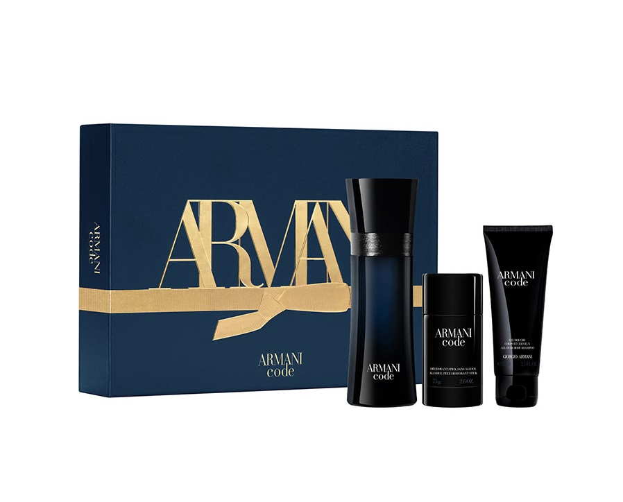 ARMANI CODE POUR HOMME EDT 125 ML + SHOWER GEL 75 ML + DEO STICK 75 ML SET REGALO