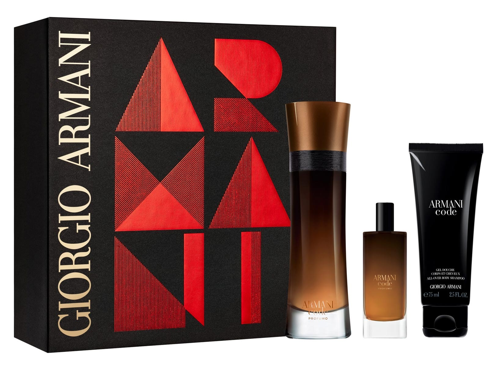 GIORGIO ARMANI CODE PROFUMO EDP 110 ML VP + MINI 15 ML + GEL 75 ML SET REGALO