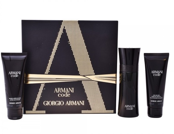 GIORGIO ARMANI CODE EDT 75ML +GEL 75ML + BALSAMO 75ML SET