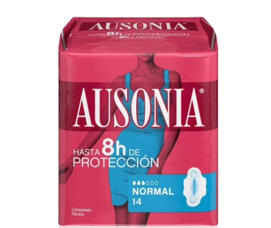 AUSONIA AIR DRY COMPRESAS NORMAL CON ALAS 14 UNIDADES