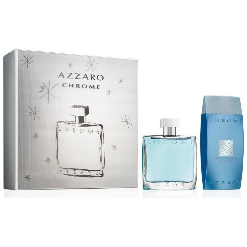 AZZARO CHROME EDT 100 ML + S/G 200 ML SET REGALO