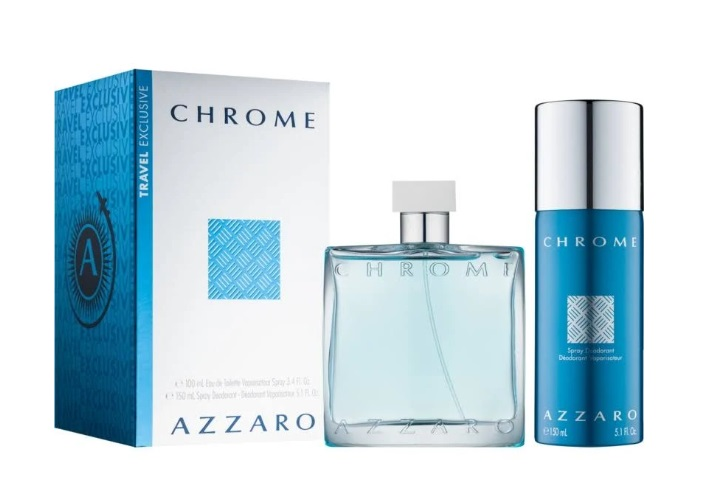 AZZARO CHROME EDT 100 ML + DEO VAPO 150 ML TRAVEL SET