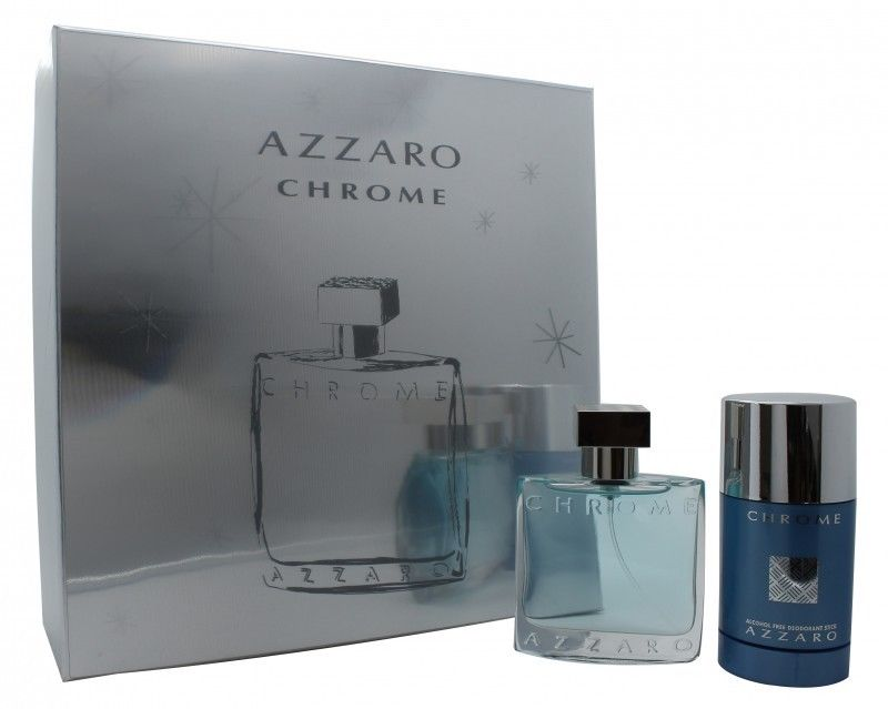 AZZARO CHROME EDT 50 ML + DEO STICK 75 ML SET REGALO