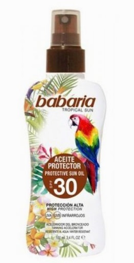 BABARIA ACEITE PROTECTOR SPF30 TROPICAL 100ML