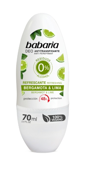 BABARIA DESODORANTE ROLL-ON BERGAMOTA & LIMA 70 ML