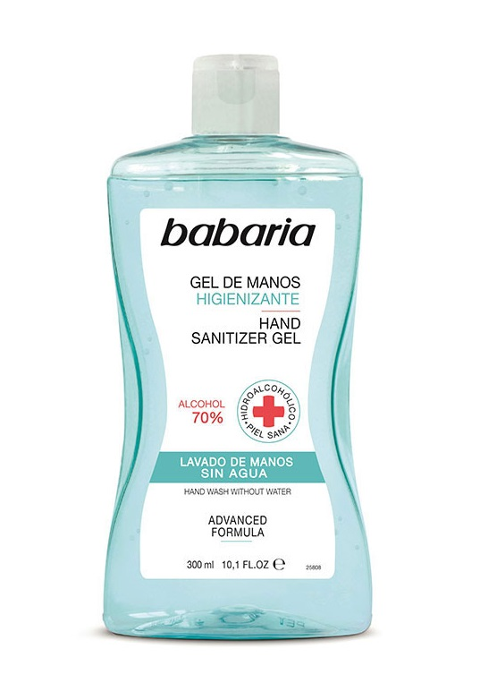 BABARIA GEL DE MANOS HIGIENIZANTE 70% ALCOHOL 300 ML