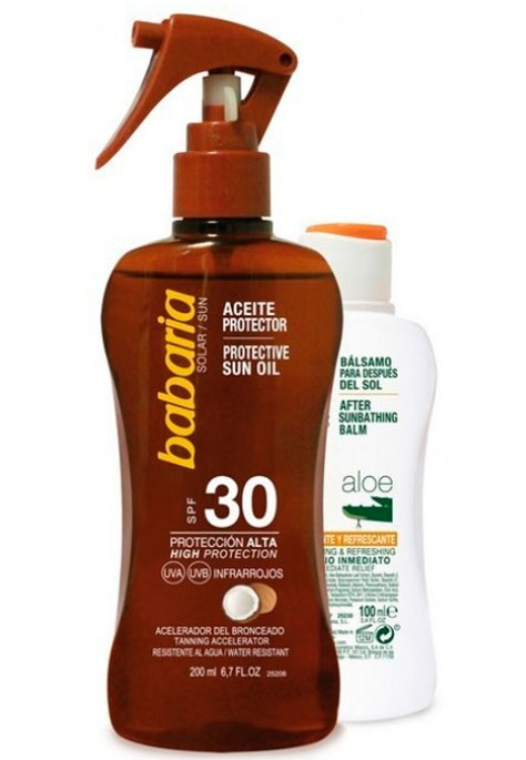 BABARIA ACEITE PROTECTOR SOLAR COCO SPF30 200ML + AFTER SUN ALOE 100ML