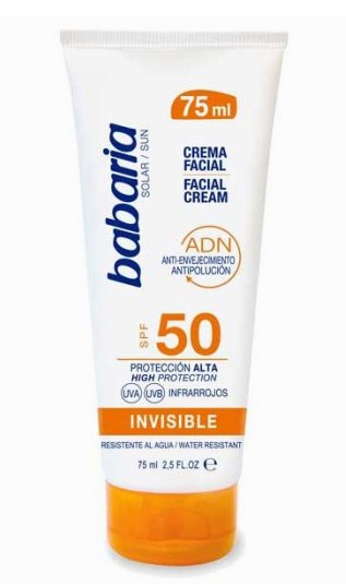 BABARIA CREMA PROTECCION SOLAR FACIAL SPF50 INVISIBLE 75ML