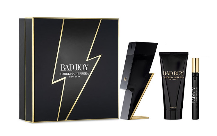 CAROLINA HERRERA BAD BOY EDT 100 ML + S/GEL 100 ML + MINI 10 ML SET REGALO