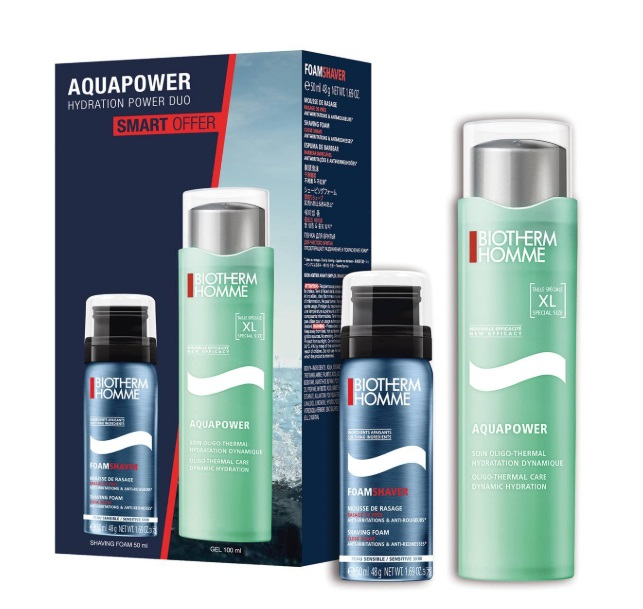 BIOTHERM HOMME AQUAPOWER OLIGO THERMAL CARE 100 ML + SHAVE FOAM 50 ML SET