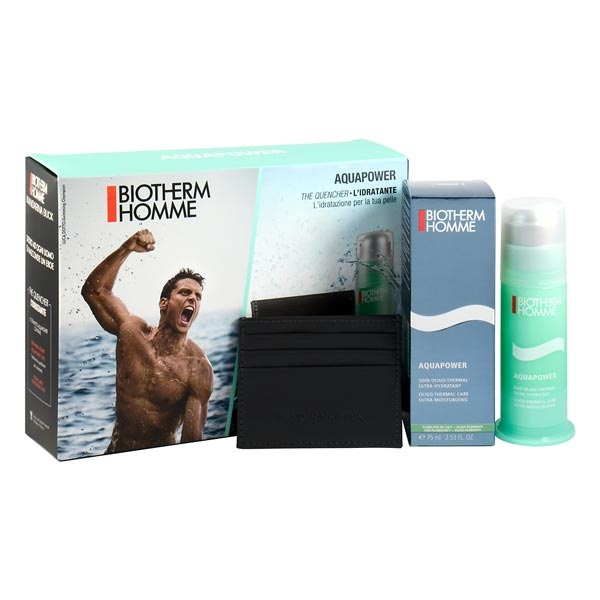 BIOTHERM HOMME AQUAPOWER 75 ML + CARTERA SET REGALO