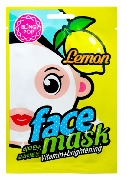 BLING POP MASCARILLA FACIAL VITAMINA E ILUMINADORA CON LIMON