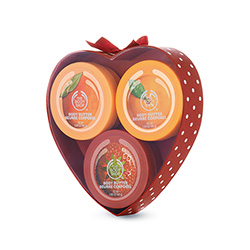 THE BODY SHOP MINI TRIO FRUIT BODY BUTTER (MANGO, FRESA, SATSUMA)  SET REGALO