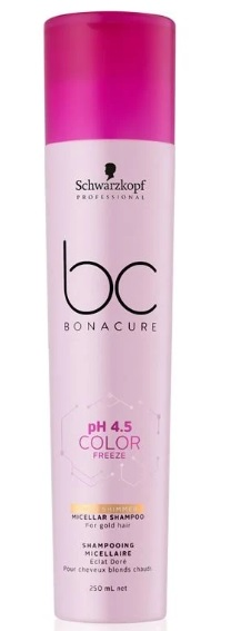 BONACURE COLOR FREEZE PH4.5 CHAMPU MICELAR CABELLOS RUBIOS 250ML