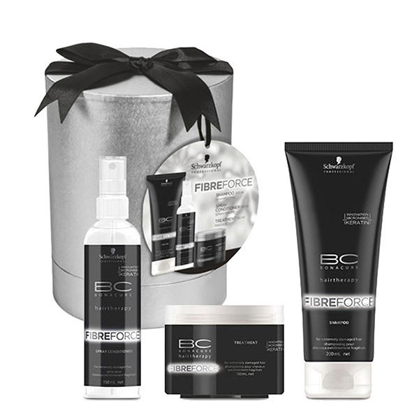 BONACURE FIBRE FORCE PACK (SHAMPOO 200 ML + ACOND 150 ML + MASK 150 ML) SET REGALO