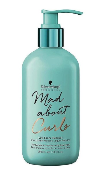 SCHWARZKOPF MAD ABOUT CURLS LOW FOAM CLEANSER CHAMPU 300ML