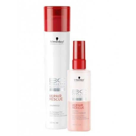 BONACURE CHAMPÚ REPAIR RESCUE 250 ML + SPRAY CONDITIONER 100 ML SET