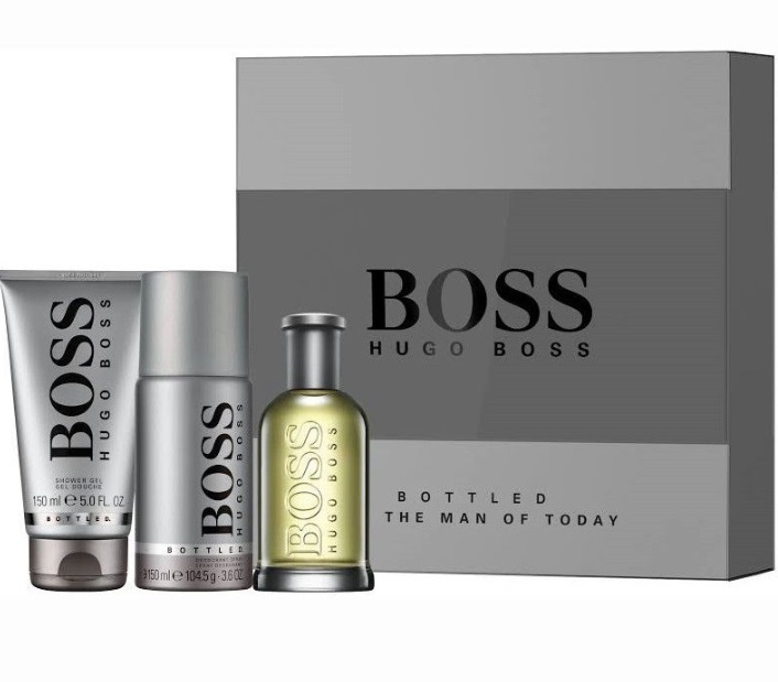 HUGO BOSS BOSS BOTTLED EDT 100 ML + GEL 150 ML + DEO VAPO 150 ML SET REGALO