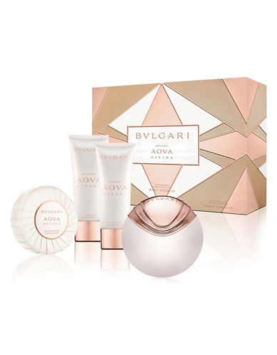 BVLGARI AQUA DIVINA EDT 65 ML + B/L 100 ML + GEL 100 ML + JABON SET REGALO