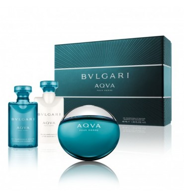BVLGARI AQVA HOMME EDT 50 ML + A/S 40 ML + GEL 40 ML SET REGALO