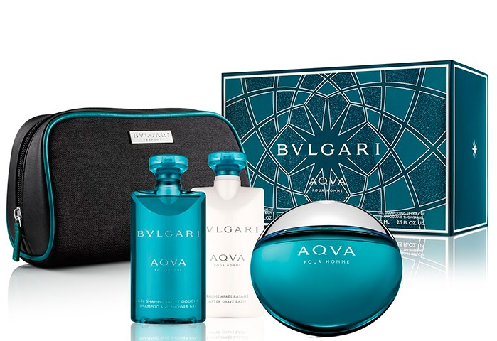 BVLGARI AQVA EDT 100 ML + GEL 75 ML + AS BALM 75 ML + NECESER SET