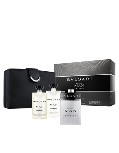 BVLGARI MAN EXTREME EDT 100 ML + GEL 75 ML + A/S BALM 75 ML+ NECESER SET REGALO